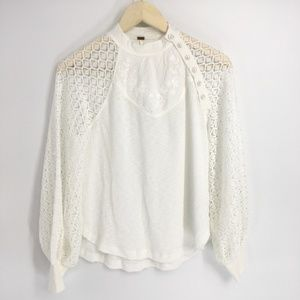 Free People Ivory Sweetest Thing Thermal Top